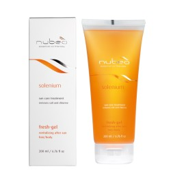 NUBEA SOLENIUM rewitalizujący żel pod prysznic do włosów /ciała narażonych na działanie słońca